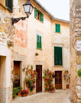 Fototapet Medeltids Valldemosa traditionella Mallorca by