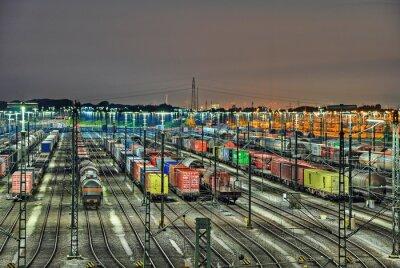 Fototapet mesh Rangierbahnhof
