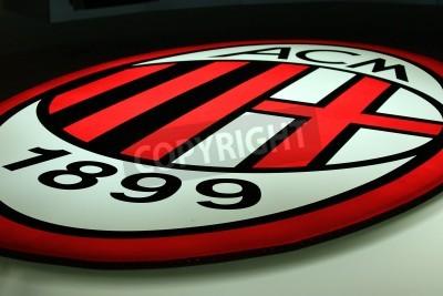 Fototapet Milano, Italien den 20 september, 2010 - AC Milan logo.