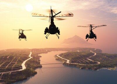 Fototapet militär helikopter