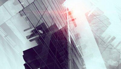 Fototapet Modern affärsbakgrund. Mixad media