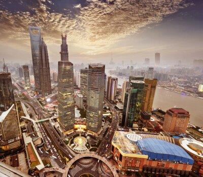 Fototapet modern byggnad i Shanghai.