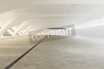 Fototapet Modern futuristisk tom abstrakt interiör