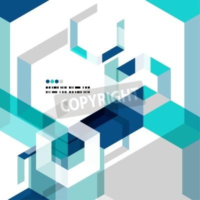 Fototapet Modern geometrisk abstrakt vektor mall