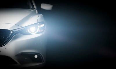 Fototapet Modern lyxbil närbild banner bakgrund