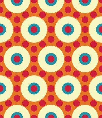 Fototapet Modern vektor sömlösa färgrik geometri cirkel mönster, färg abstrakt geometrisk bakgrund, kudde flerfärgad tryck, retro textur, hipster modedesign