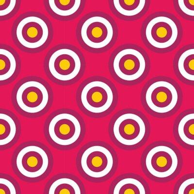 Fototapet Modern vektor sömlösa färgrik geometri cirklar mönster, färg abstrakt geometrisk bakgrund, kudde flerfärgad tryck, retro textur, hipster modedesign