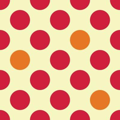 Fototapet Modern vektor sömlösa färgrik geometri prickar mönster, färg abstrakt geometrisk bakgrund, kudde flerfärgad tryck, retro textur, hipster modedesign