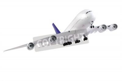 Fototapet Moderna flygplan isolerad på vit bakgrund.