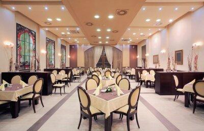 Fototapet Moderna hotell restaurant interior