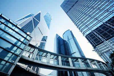 Fototapet Moderna kontorsbyggnader i Hong Kong.