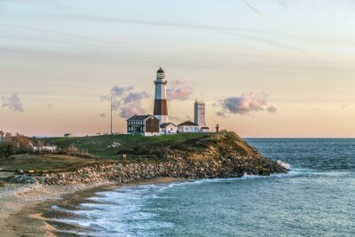 Fototapet Montauk pekar lätt, fyr, Long Island, New York, Suffolk