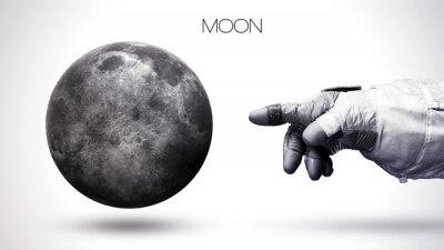 Fototapet Moon - Högupplöst bästa solsystem planet. Alla planeter finns. Denna bildelement som tillhandahålls av NASA