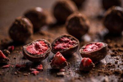 Fototapet Mörk chokladtryffel