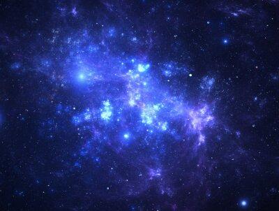 Fototapet Mörk rymden Starfield