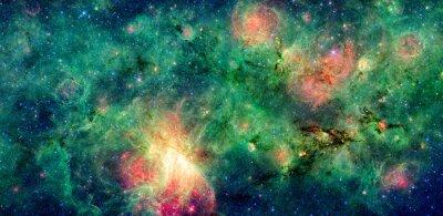 Fototapet Mörka moln M17 SWEX och M17 nebulosa. Retuscherat och rensade version av originalbilden från NASA