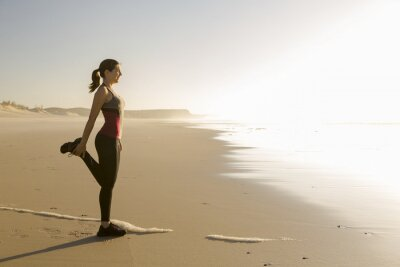 Fototapet Motion på stranden