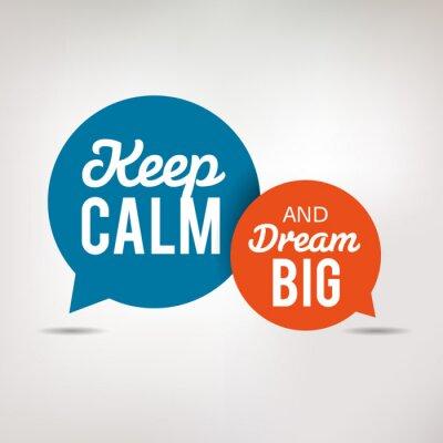 Fototapet Motivation citationstecken - Keep Calm