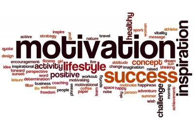 Fototapet Motivation ordet moln koncept
