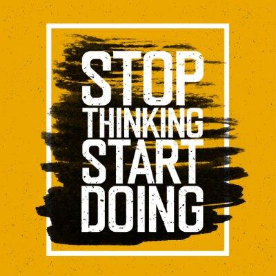 Fototapet Motivational affisch med bokstäver