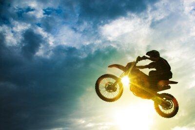 Fototapet Motocross Bike Jump