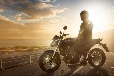 Fototapet Motorcykel på en Ocean Road