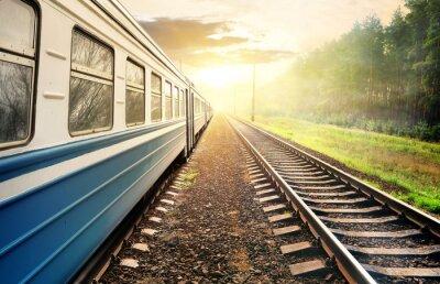 Fototapet Moving tåg