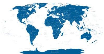 Fototapet Mycket detaljerade World Map