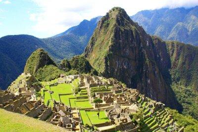 Fototapet Mystiska staden Machu Picchu, Peru.