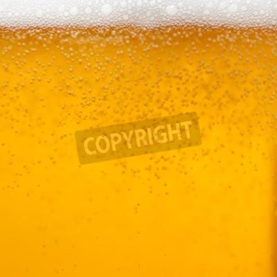 Fototapet Närbild av ett glas öl