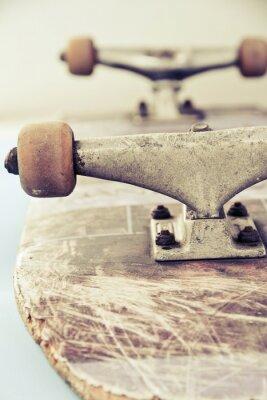 Fototapet närbild bild av skateboard