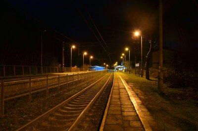 Fototapet natt station