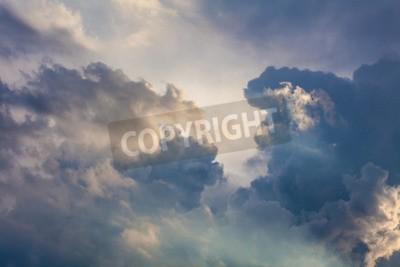 Fototapet Naturlig bakgrund av himmel och moln