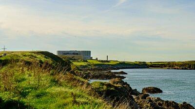 Fototapet Nedlagd och avvecklas Nuclea kraftstation, Wylfa, Wales.