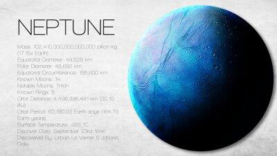 Fototapet Neptune - Högupplöst Infographic presenterar en av solens