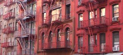 Fototapet New York / Brandstegen