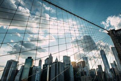 Fototapet New York, Brooklyn Bridge,