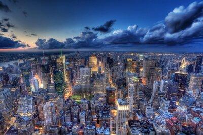 Fototapet New York by night.