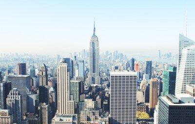 Fototapet New York City skyskrapor ovanifrån