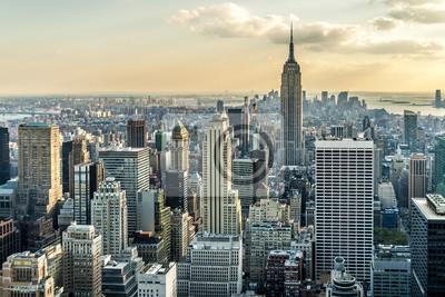 Fototapet New York Flygbild