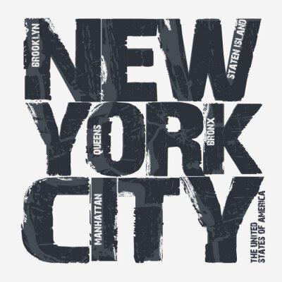 Fototapet New York typografidesign