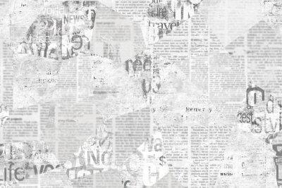 Fototapet Newspaper paper grunge vintage old aged texture background