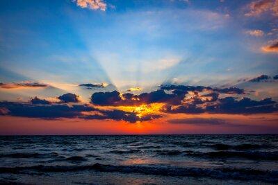 Fototapet nice sunset sky över havet