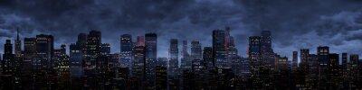Fototapet Night city panorama