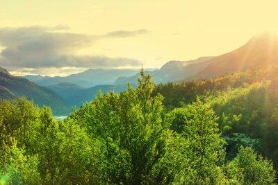 Fototapet Norge bergen