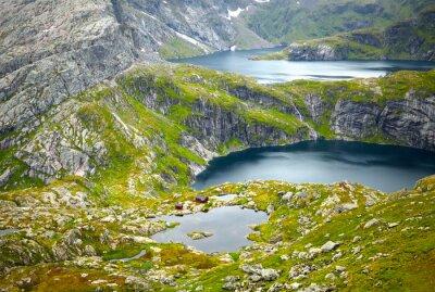 Fototapet Northern Norway landskap. Lofoten