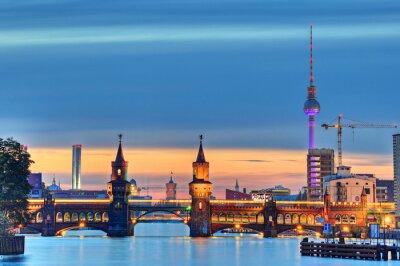 Fototapet Oberbaumbrücke Berlin