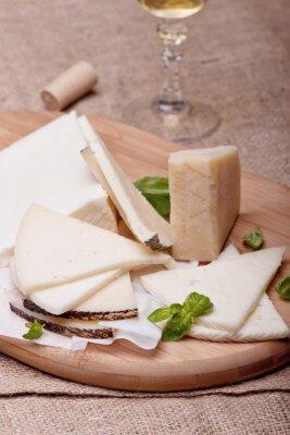 Fototapet Olika typer av ost