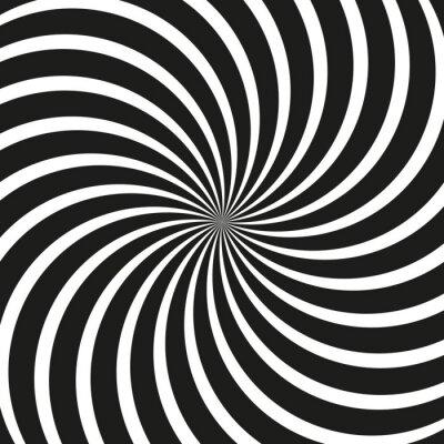 Fototapet Op konst virvlar runt spiral bakgrund