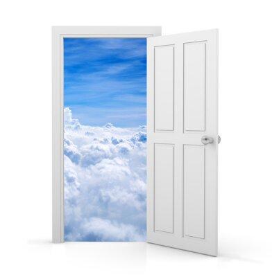 Fototapet öppen dörr